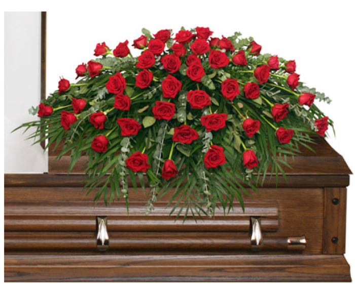 Majestic Red Casket